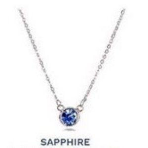 Sara Blaine/eSBe Swarovski Sapphire Necklace